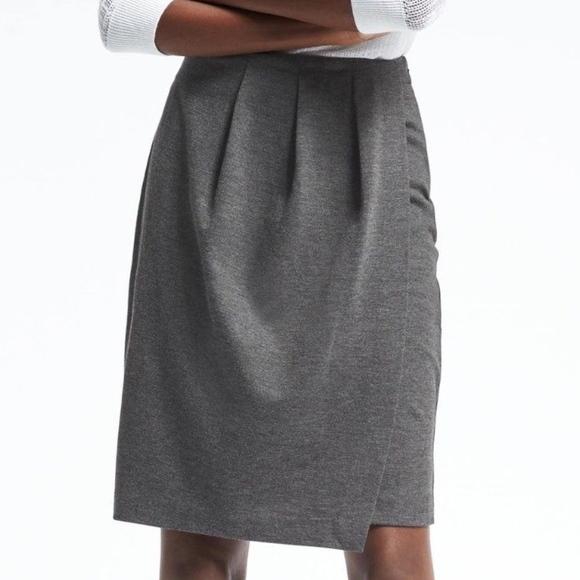 3aa906f2f4 Banana Republic Skirts | Pleated Faux Wrap Pencil Skirt | Poshmark